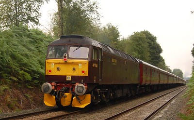 There was a diesel loco on the rear of the train this time: WCRC 47760.