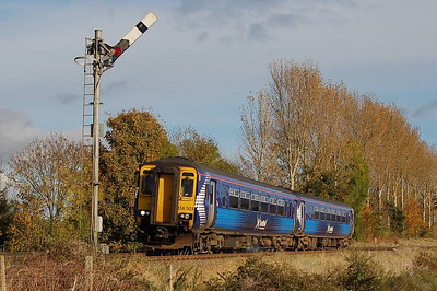 A rather cleaner Scotrail unit, 156 503 at the same location on 27th October 2012.
