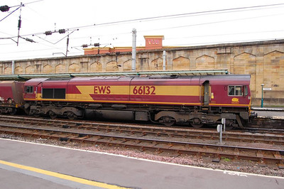 66132 with an up coal train, Carlisle, 24th Aprilm2013