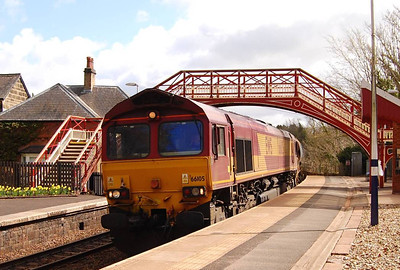 A closer view of 66105 at Wetheral on 26th April