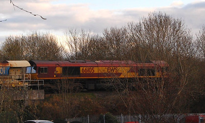 66105 was on the rear of the HOTRT2 train on 25th April, again snapped from my driveway!