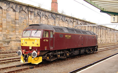 Another view of West Coast Rail 47760, Carlisle, 23rd April 2013