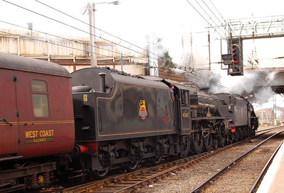 And a closer view of 45407 at Carlisle, 23rd April 2013.