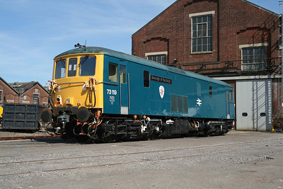 73119 then recently named 'Borough of Eastleigh' at Eastleigh Works. 16/6/09