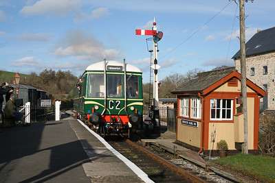 W55000 Staverton Bridge. This railcar worked branch line services in Devon when new in 1960. 4/4/10