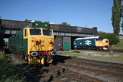 50007, 37314  Loughborough GCR. 12/9/09