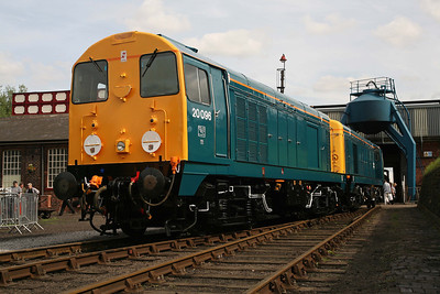 20096 and 20107 on show at a Barrow Hill Open Day. 8/8/09