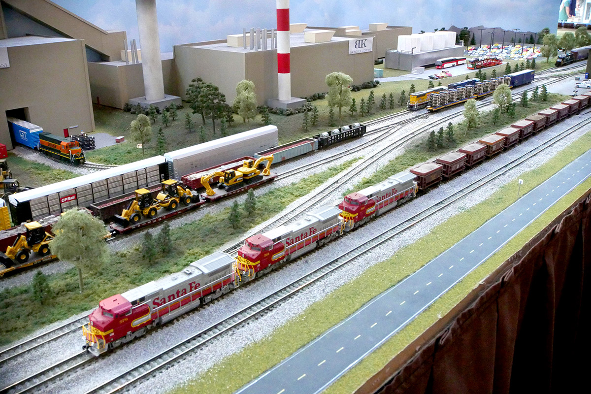 N Scale allows for the operation of realistically long trains