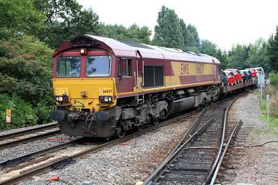 66037 1527/6x44 Dagenham-Didcot passing Gospel Oak 01/10/13.