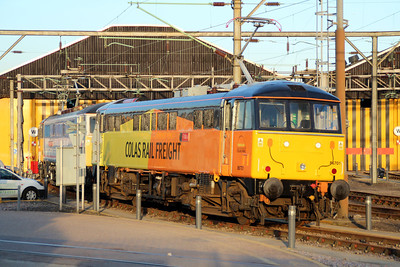 86701 sits outside Willesden TMD in the evening sun 03/05/13.