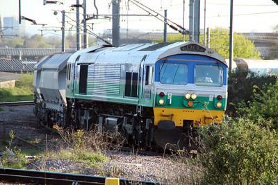 59005 1845/6L21 Whatley-Dagenham approaching Willesden High Level 03/05/13.