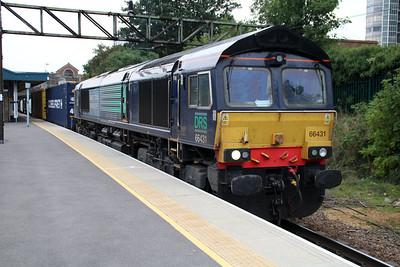 66431 1312/4m71 Purfleet-Daventry passing Barking 01/10/13.