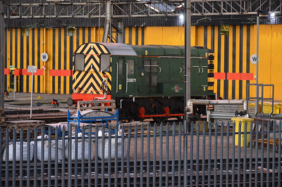 D3671 / 09007 at Willesden TMD   22/12/16