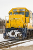 Front of Ontario Northland GP40-2 2201 at Moosonee. 2007 April 14th.