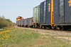 "Mixed train (""Little Bear"") heading south from Moosonee 2004 June 12. GP38-2 1804"