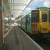 455801 - Horsham<br /> (The unit had failed and was awaiting a tow back to Selhurst Depot)