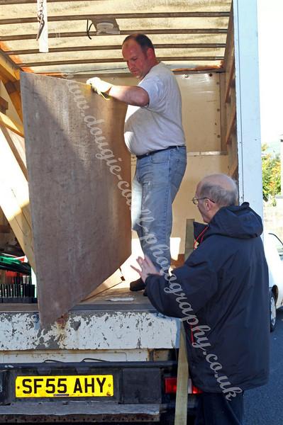 Unloading at Fort Matilda