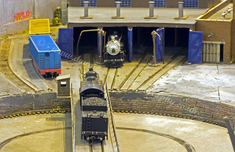 Turntable & Loco Shed at Jefferson Junction