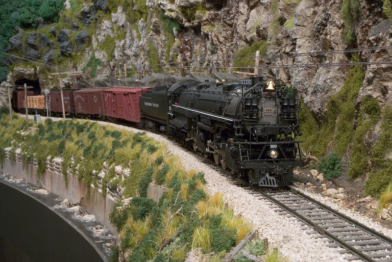 "Bob Brook's Northern Pacific Z6. This was a static ""photo op"" because the locomotive could not negotiate most curves on the layout."