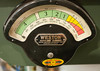 """This genuine EMD F3 traction motor load meter shows scale Amperes (1000 indicated is 10 DCC amps) for the NCE 10 amp DCC power booster serving Glenn Forge, International Paper, and the ruling double-track grade up to Ohio Bridge. <br /> <br /> I enjoy repurposing electronic parts older than I am to serve us in new and unexpected ways. This style of Weston meter was widely used over many years in many applications, not just on railroads. Weston also sold them in beautifully-constructed oak boxes for use in laboratory analysis. In their day, they were the best except for a few high-end lab units with mirrored scales to minimize measurement error from parallax.<br /> <br /> The external meter case could use a light cleaning with a stiff brush since it was installed in as-purchased condition from a seller at an online auction site.<br /> <br /> Anyway, the F3 is my all-time favorite locomotive, closely followed by the """"Cadillac"""" SD9."""
