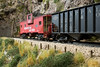 A&O extended vision caboose along the highly-detailed River Gorge scene. Canon 1D Mk II, 24mm tilt/shift.