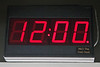 A&O fast clocks are programmed to wake up at 12 noon in AM/PM mode until the command station issues a broadcast time message to all throttles. <br /> <br /> The rightmost period indicates PM.<br /> <br /> The clocks track the settings of the NCE command station fast clock, as programmed by a ProCab. It tracks the military/civilian clock settings on the NCE command station. All it does is read the characters sent to the ProCab LCD and display them, except that PM is indicated by a dot when not in military (24 hour) mode.