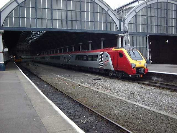 The early days of testing and commissioning sees 220019 at Darlington on 13th June 2001