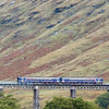 12th October 2009. Class 156 unit on the Horseshoe Curve between Tyndrum & Bridge of Orchy.