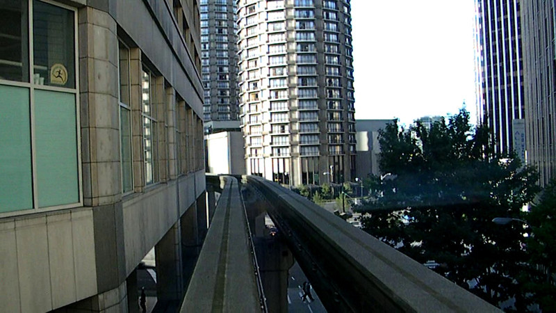Downtown to Seattle Center, Sunday 10-9-11. Not a smooth ride, and best viewed with sound off. You'll see!