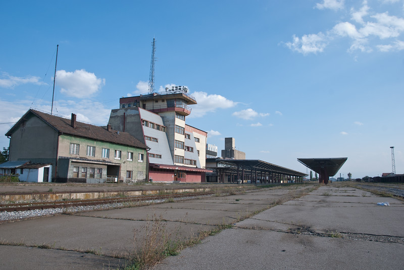 Fushe Kosovo (on the edge of the city) is on a different scale altogether from Pristina's central station.
