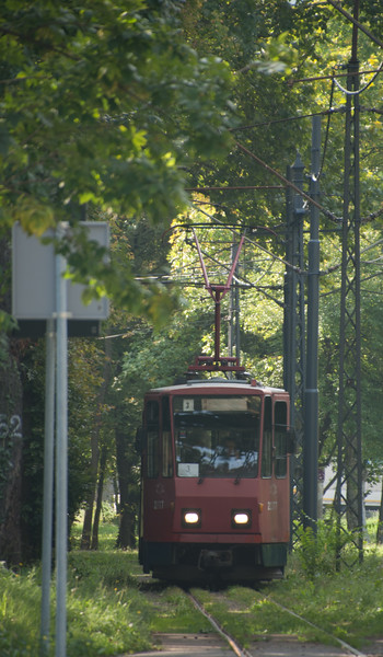 Belgrade is a city oppressed and ruined by traffic - especially bad in the summer heat. But having said that it does have a decent tram network with it's Yugo-era fleet supplemented by second hand trams from Switzerland as well as some new build from CAF.
