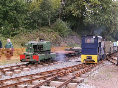Diesel powered locos 3 and 18