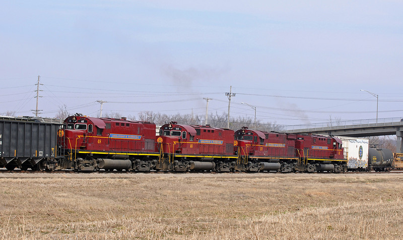 The A&M rosters a variety of four axle Alcos, this quartet are C420s from the Century line, dating back to the mid 1960s.
