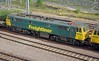 86627 still wears the restrained Freightliner green, rather than the Powerhaul variant