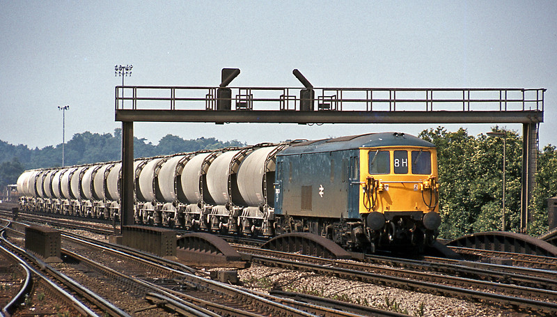 In the opposite direction cement tanks, presumably returning to North Kent.