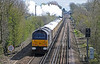 67006 was bringing up the rear as Tangmere put steam on once the signal for the platform road had cleared.