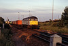 Later in the evening 47301 passing Hoo Junction on the 4M96 from Grain to Trafford Park.