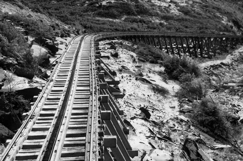 A portion of the 3-mile trestle and steepest part of the line.