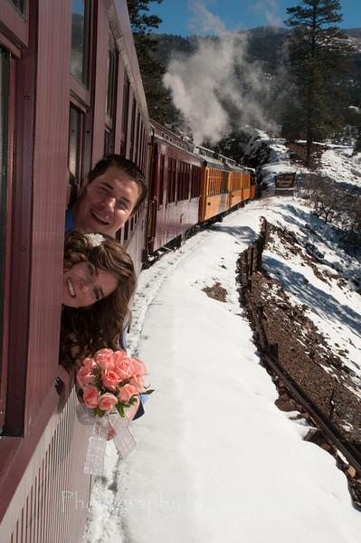Jill & Scott's wedding on train