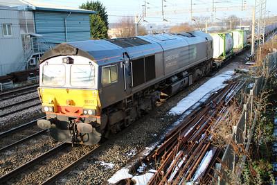 66305 1401/4L48 Daventry-Tilbury running 90 late. 15/01/13.