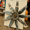 The radiator fan blade has been returned from a local supplier .<br /> This has been weld repaired and balanced .<br /> 9th September 2016.