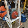 The fan motor with new bearings and end cover, ready to refit.<br /> 6th August 2016.