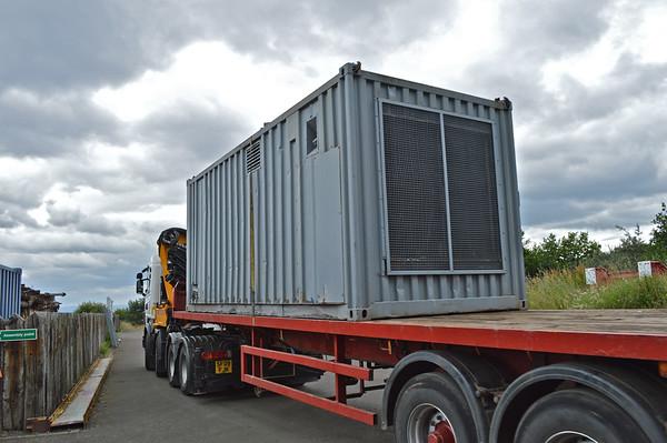 The grey box arrives.