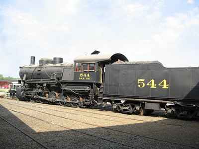 Seaboard Air Line #544--- The locomotive was built by the American Locomotive Company in March 1918. This 2-10-0 Decapod was built for the Russian State Railroad, but never delivered due to the Revolution of 1917