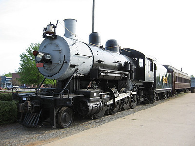 Baldwin 2-8-0 Consolidation type.The NCTHC bought the locomotive in 1978, which was restored to operating condition in 1987 by retired Southern Railway employees who volunteered at the museum. The 604 was numbered after similar class locomotives on the Southern.
