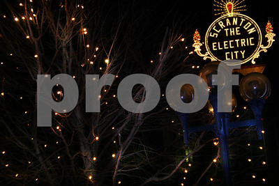 Electric CIty Sign at Christmas Time 2005