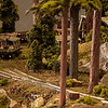 Modeler: Chuck Ellison<br /> This fantastic example of a railroad logging camp was built by Chuck Ellison. He is a member of the San Luis Obispo Model Railroad Association. They have a blend of Bend Track and oNeTrak modules.
