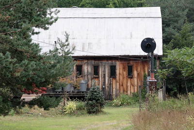This private residence located close to where the O&W Winterton station stood has some RR memorabilia in the front yard.