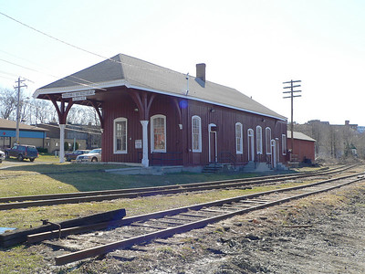 Restored Middletown & Unionville RR station in Middletown, NY. Now the offices of the Middletown and NewJersey Ry.