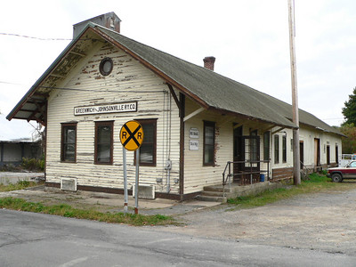 Greenwich & Johnsonville Ry freight station in Greenwich NY. Now used by the Batten Kill RR.